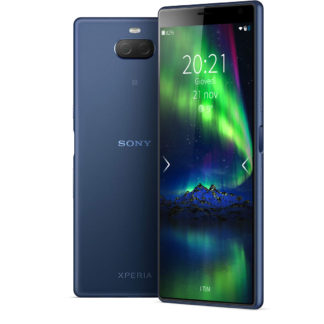 Xperia 10 plus navy with Sailfiish OS
